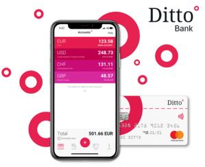 Ditto Bank, banque mobile française nouvelle génération, officialise son lancement commercial