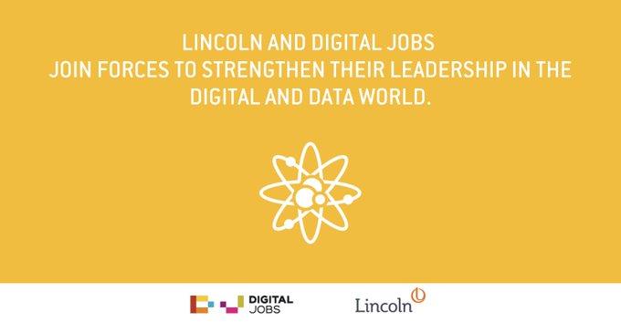 Lincoln et Digital Jobs s'unissent pour renforcer leur leadership sur l'univers du digital et de la data