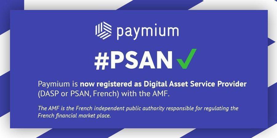 Paymium, 1ère plateforme d'échange de bitcoins basée en France, enregistrée en tant que PSAN par l'AMF