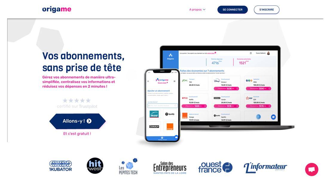 Origame, la startup qui réinvente la gestion de vos abonnements