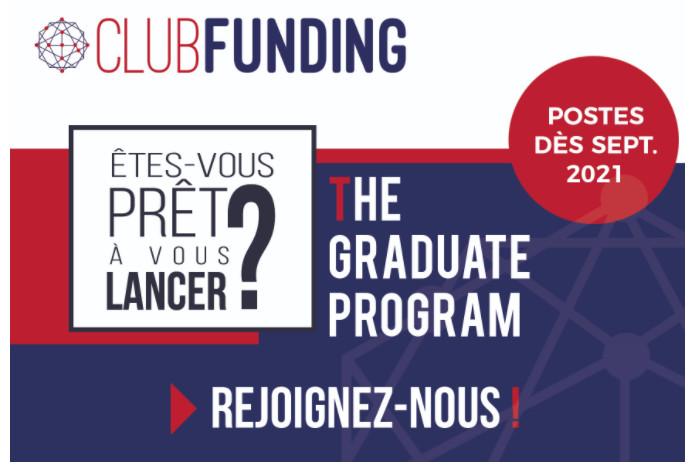 ClubFunding annonce la nouvelle édition de son « Graduate Program » à destination de jeunes talents