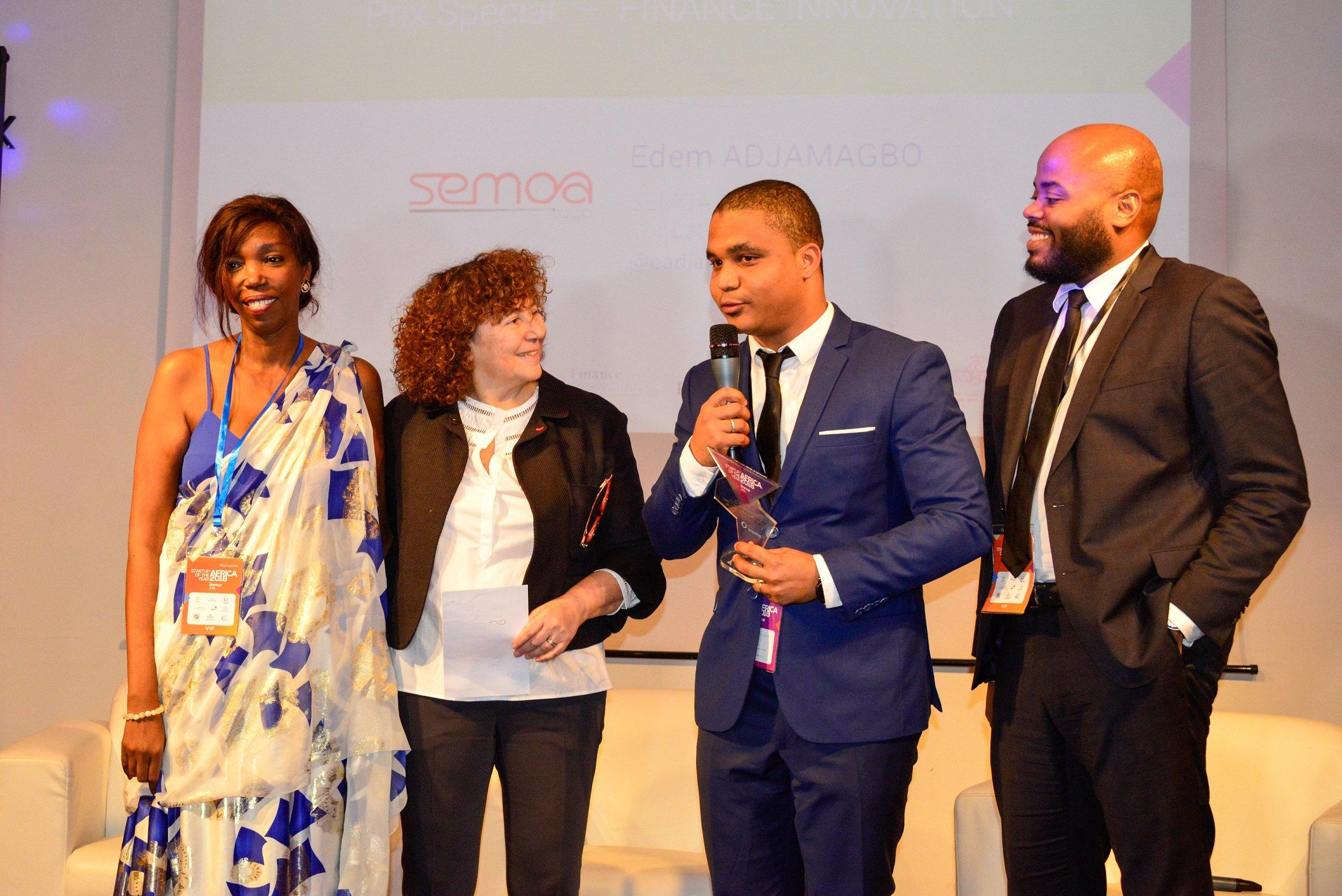 Joëlle Durieux a elle-même remis le «Prix spécial Fintech Destination Afrique » pour récompenser une FINTECH internationale qui est installée ou qui souhaite s'installer en Afrique.