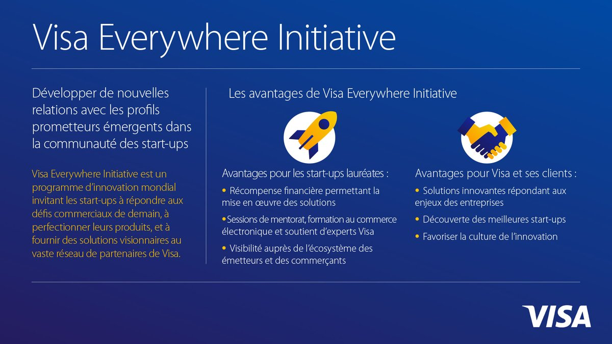 Visa invite les Fintechs à participer au programme Visa Everywhere Initiative 2018