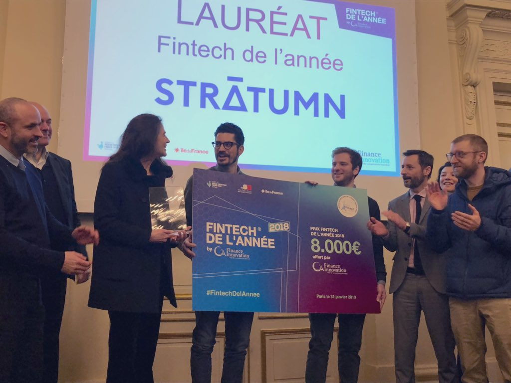 Stratumn élue « Fintech de l'Année 2018 » par Finance Innovation