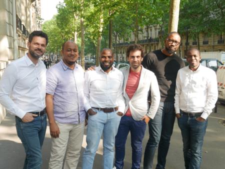 L'équipe de Partech Africa avec les cofondateurs de TradeDepot