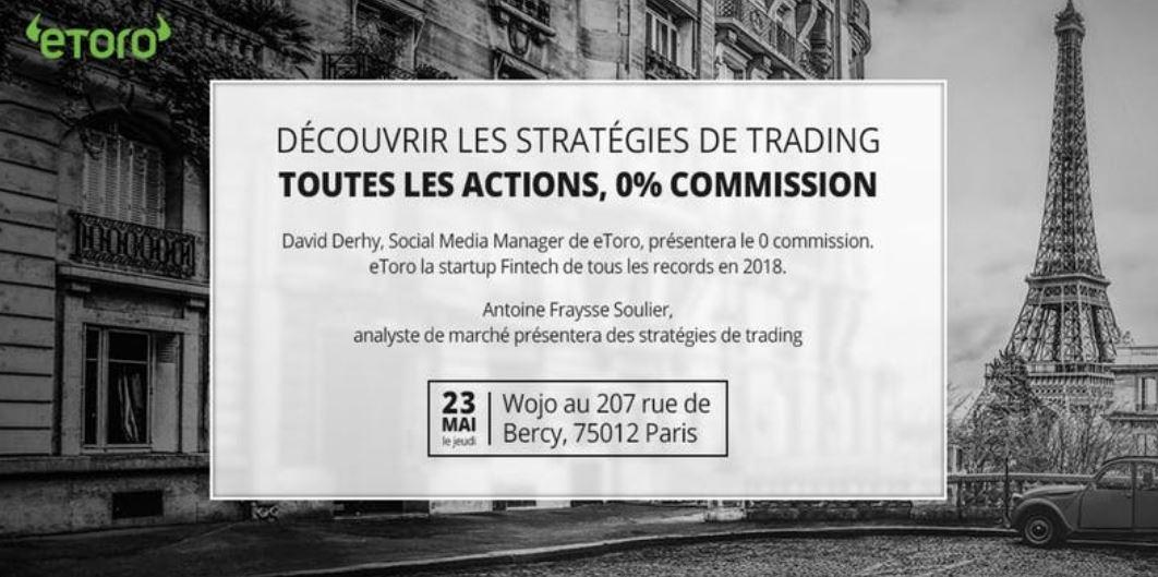 Conférence Stratégies de trading ce jeudi 23 mai avec un analyste technique