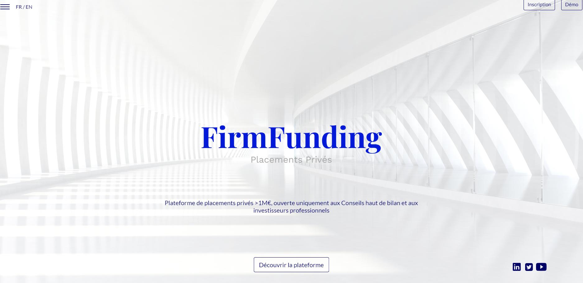 FirmFunding renforce son capital  avec l'arrivée de nouveaux actionnaires