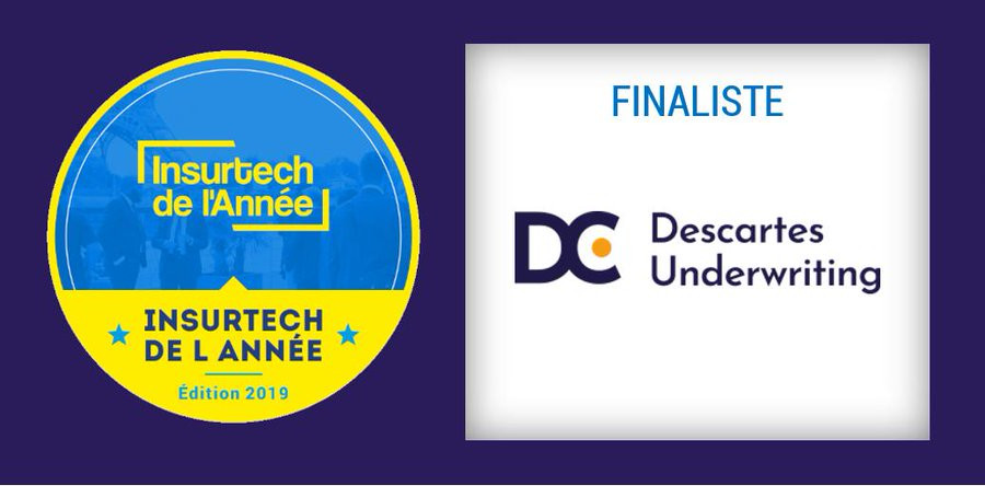 "Descartes Underwriting élue ""Insurtech de l'Année 2019"" par Finance Innovation"