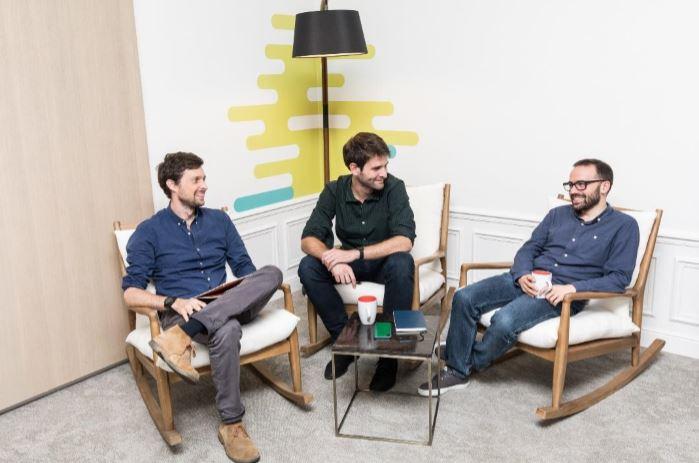 Les fondateurs Guillaume d'Audiffret, Philippe Mangematin et Jean Nicolini