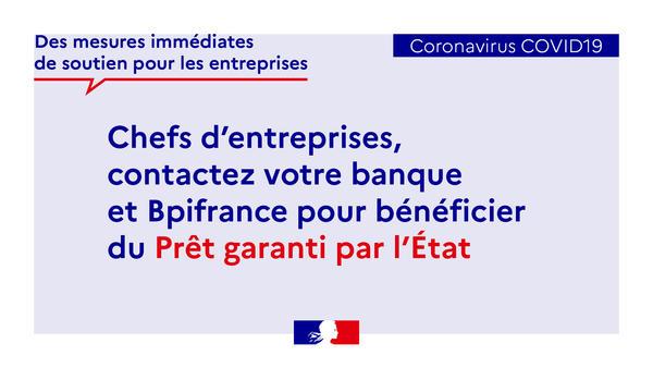 COVID-19 : les banques françaises déploient le Prêt Garanti par l'Etat pour soutenir les entreprises impactées