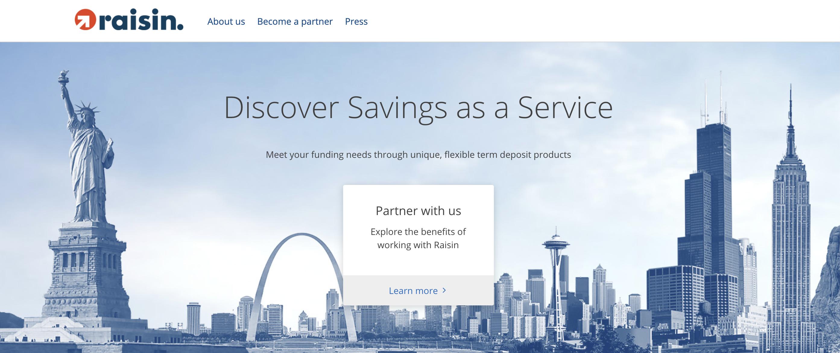 La Fintech Raisin démarre officiellement aux États-Unis avec un logiciel pour les banques