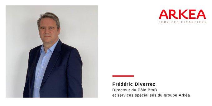 Frédéric Diverrez est nommé Directeur du Pôle BtoB et services spécialisés du groupe Arkéa