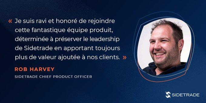 Rob Harvey nommé Chief Product Officer de Sidetrade