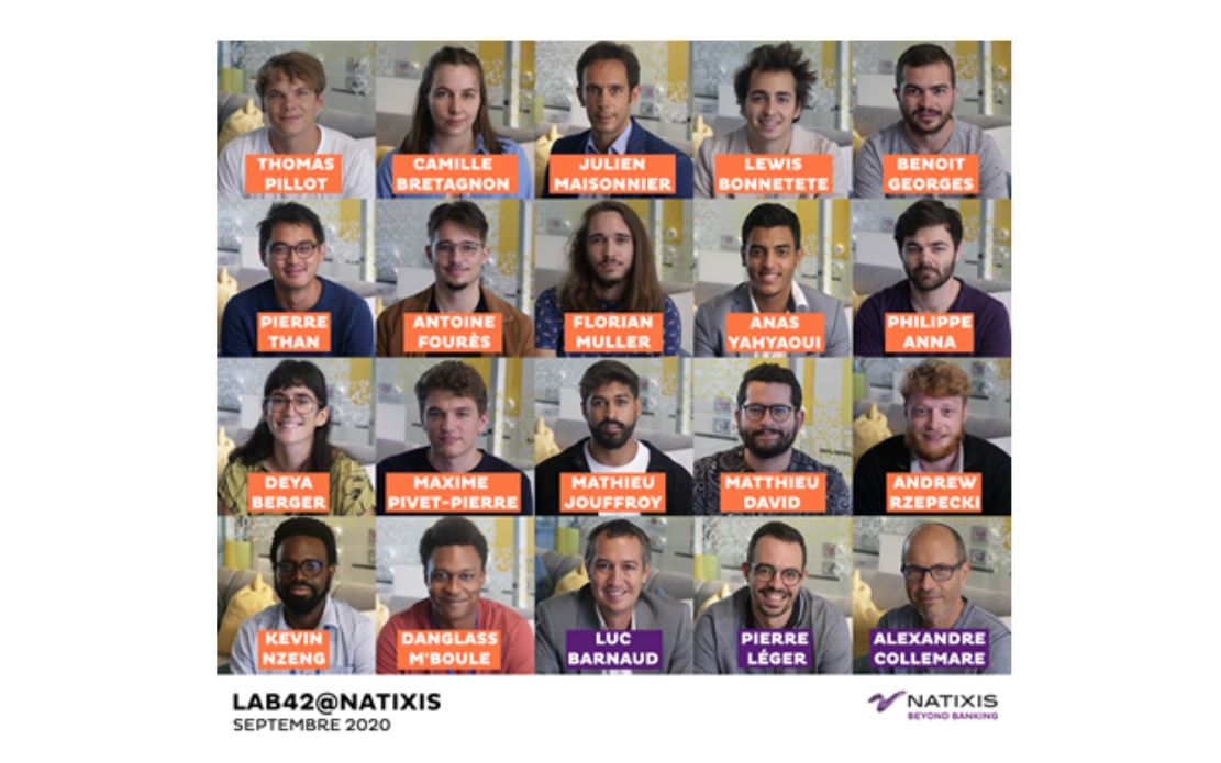 Lab42@Natixis : Natixis accueille des étudiants de 42