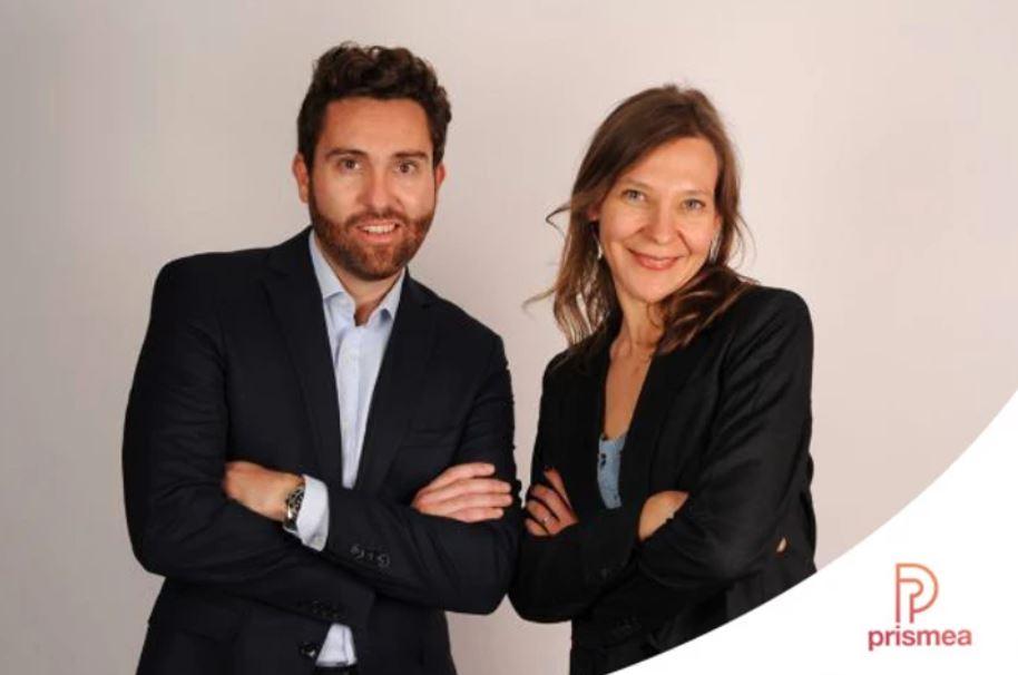 Dorian Cauvas et Stéphanie Biron, cofondateurs de Prismea