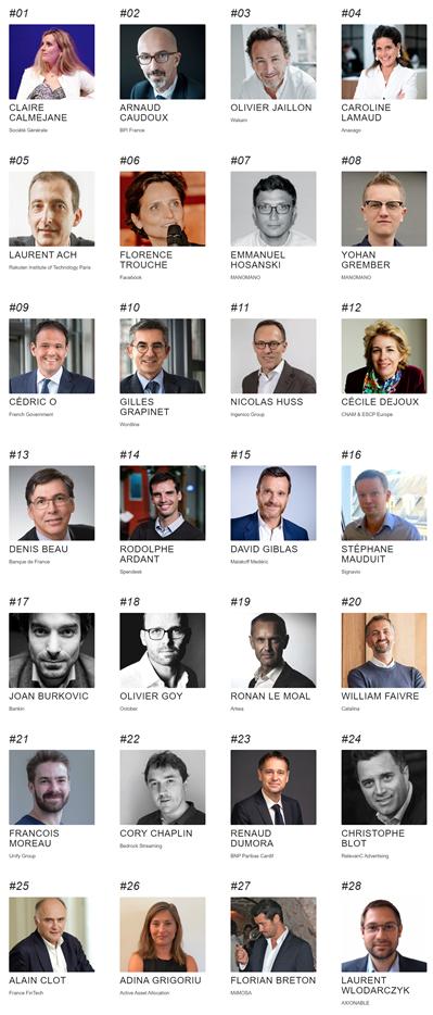 La FinTech à l'honneur dans le top 50 des personnalités les plus influentes dans la Tech en France