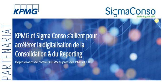 KPMG et Sigma Conso s'allient pour accélérer la digitalisation de la Consolidation & du Reporting
