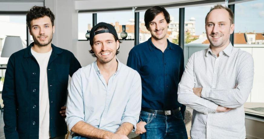 Pablo Larvor, Romain Koening, Côme Fouques et Adrien Plat, les fondateurs d'Indy (ex-Georges). Crédit : Indy.