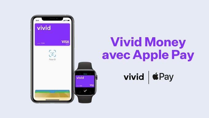 Vivid Money adopte Apple Pay en France