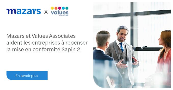 Values Associates et Mazars aident les entreprises à repenser la mise en conformité Sapin 2 avec la première plateforme RegTech, ConformEthics