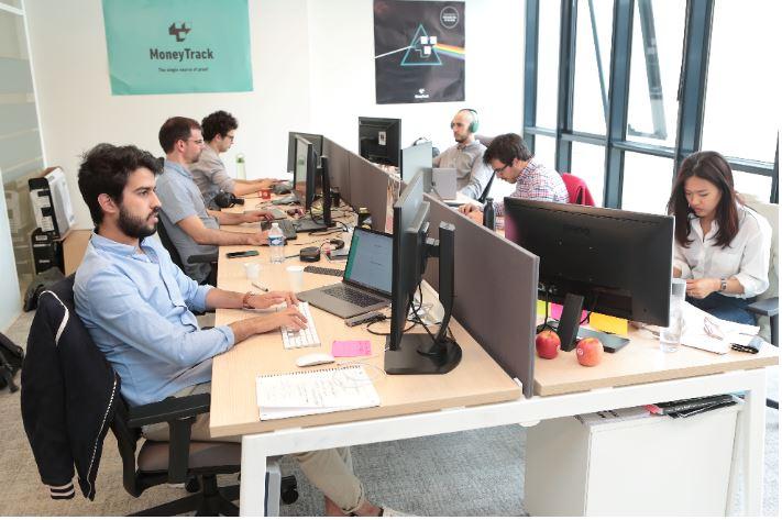 L'équipe MoneyTrack, LA start-up du marché, spécialisée dans le paiement dirigé