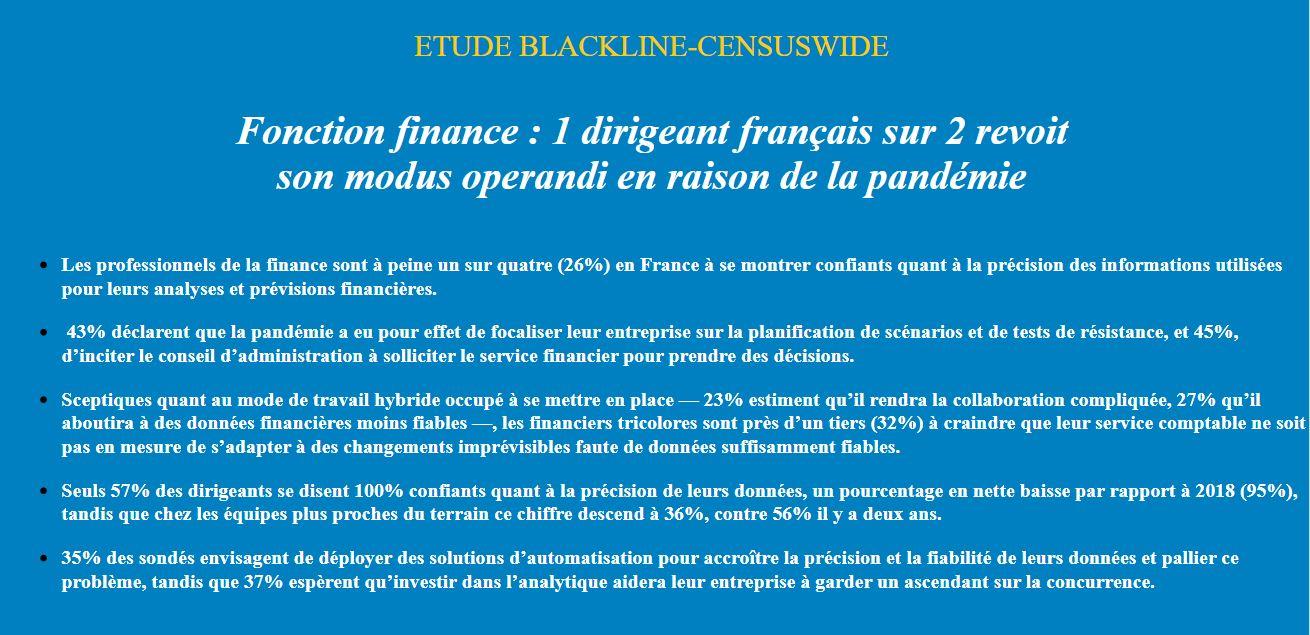 Fonction finance : 1 dirigeant français sur 2 revoit son modus operandi en raison de la pandémie