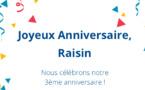 Raisin célèbre ses 3 ans et atteint les 2 milliards d'euros investis via ses plateformes