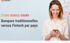 Infographie Ogury : Mobile - Banques traditionnelles versus Fintech par pays