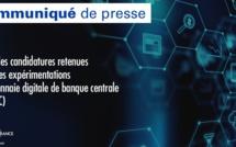 Liste des candidatures retenues pour les expérimentations de monnaie digitale de banque centrale (MDBC)